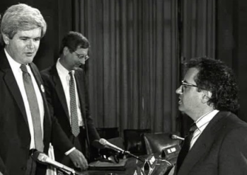 Mann and Ornstein with Newt Gingrich.