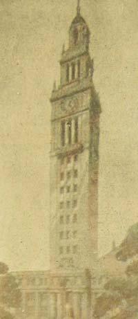 First Kahn Design of Burton Memorial Tower.