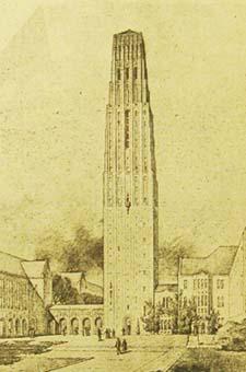 Saarinen Rendering of Tower.
