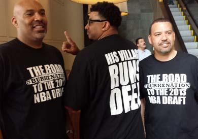 Burke fans in t-shirts.