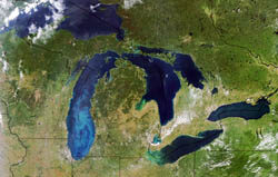 Michigan from space