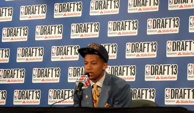 Trey Burke at the NBA Draft