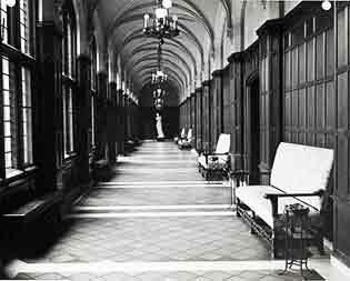 Cook hallway, courtesy of U-M's Bentley Historical Library.