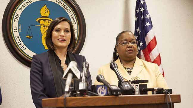 Mariska Hargitay and Kym Worthy press conference.