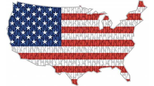 New American family flag graphic, courtesy of ISR
