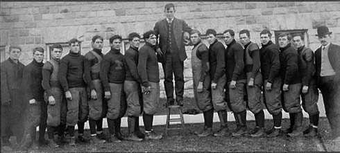Yost with team, 1905.