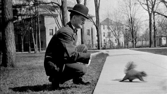 Will Caine with squirrel