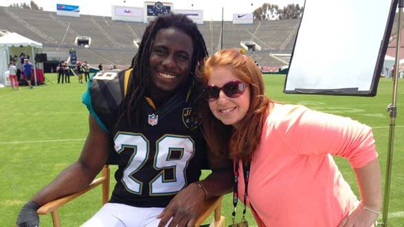 Haley Geffen with Denard Robinson