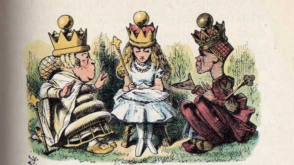 Alice is queen, Lewis Carroll, Through the Looking Glass