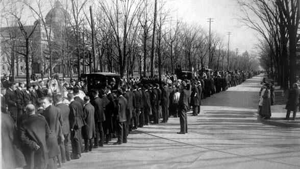 William B. Angell Funeral, Ann Arbor, 1916