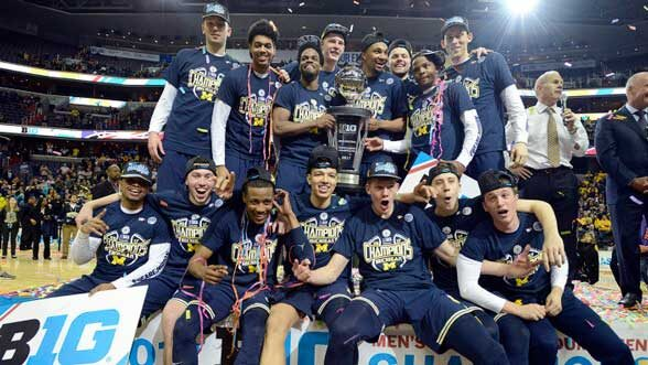 Big Ten Basketball Champs, 2017. (Image: mgoblue.com.)