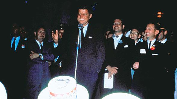 JFK at the Michigan Union, 1960.