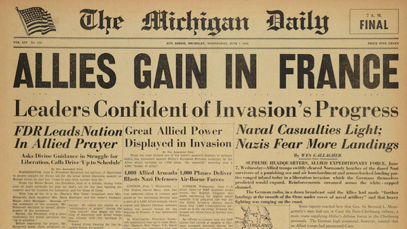 Michigan Daily cover, June 7, 1944