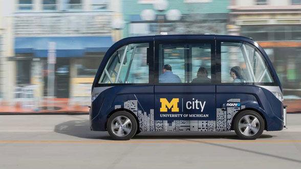 Mcity, driverless shuttle