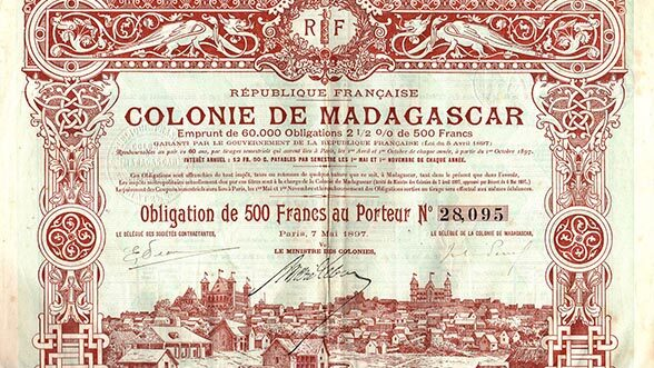 Madagascar note, 1897