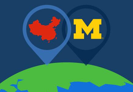U-M in China graphic