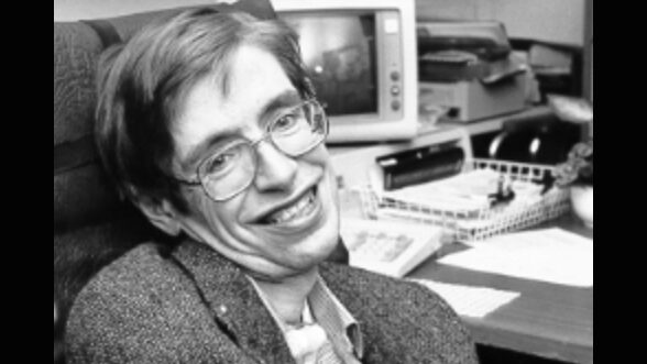 Stephen Hawking as a young man.