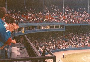 Ernie Harwell at Tiger Stadium, 1991