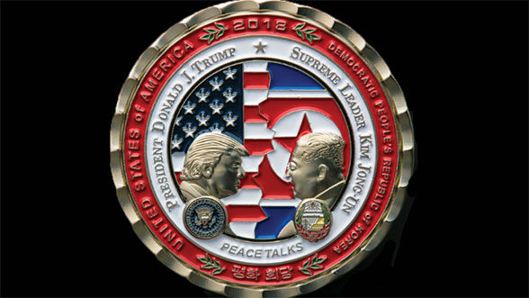 Trump coin with Kim Jong Un