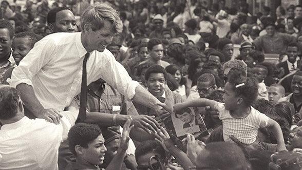 Robert F. Kennedy, Detroit, 1968. (Image credit: Andrew Sacks.)