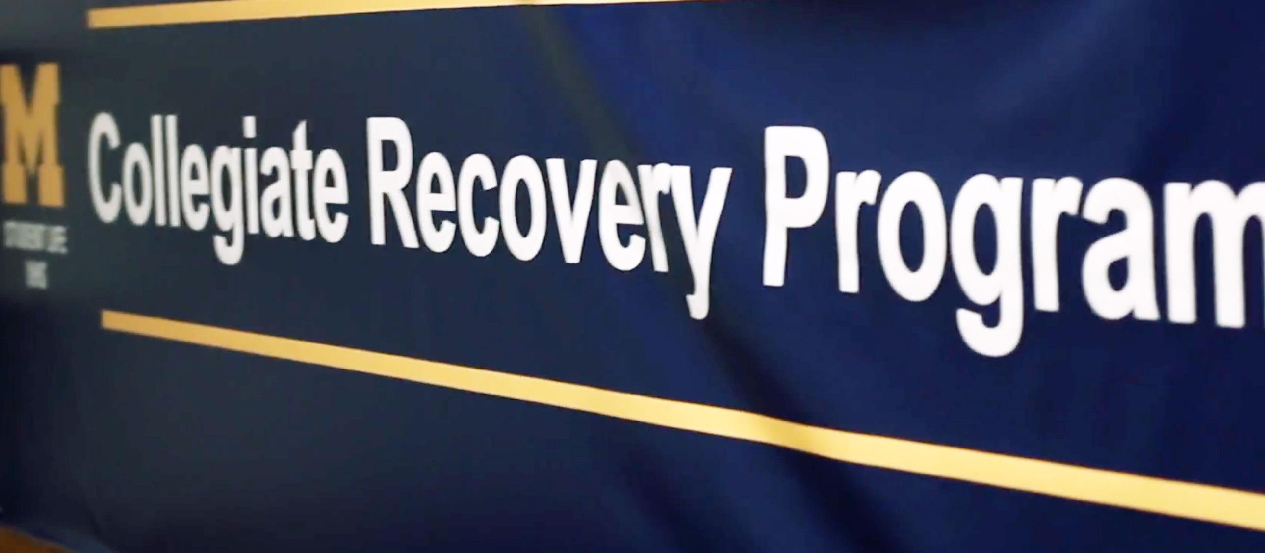 Collegiate Recovery Program banner
