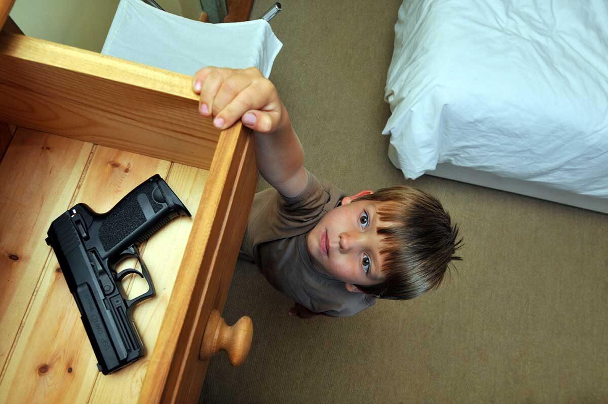 Child with gun