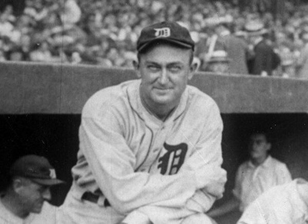 Ty Cobb in the dugout