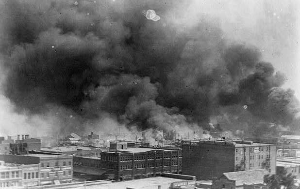 Burning of Greenwood neighborhood, Tulsa, Ok., 1921