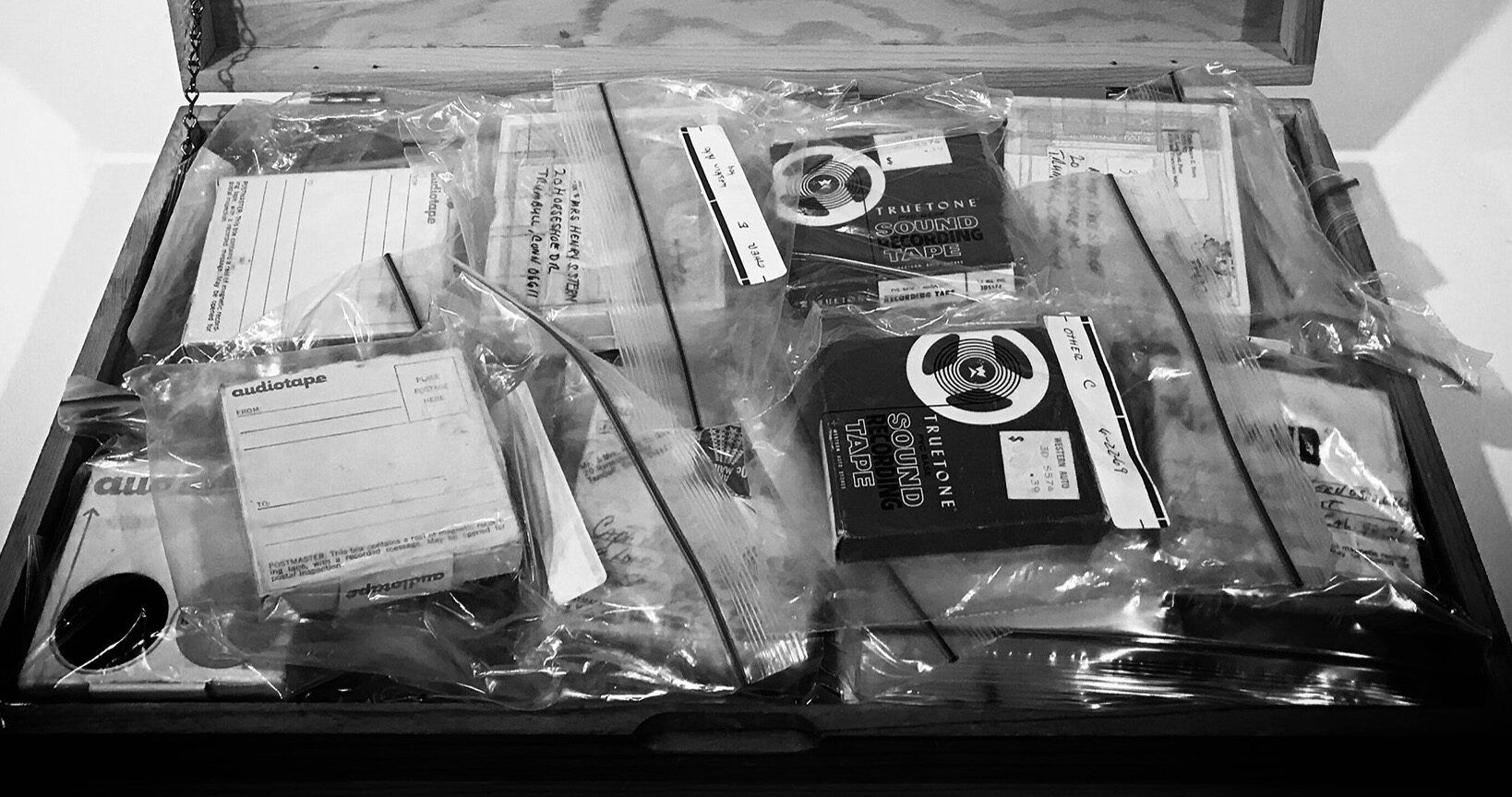 Box of letters and tapes from Long Binh