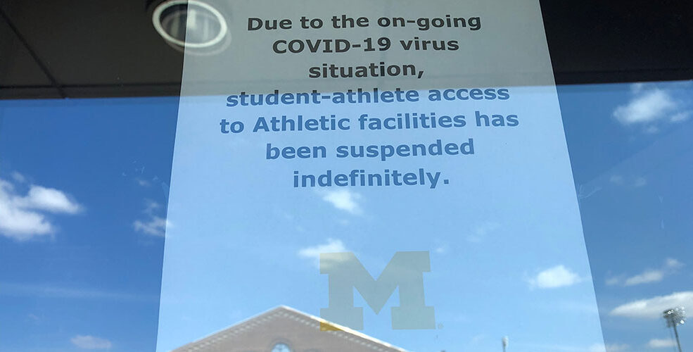 Sign at athletics faciliuty