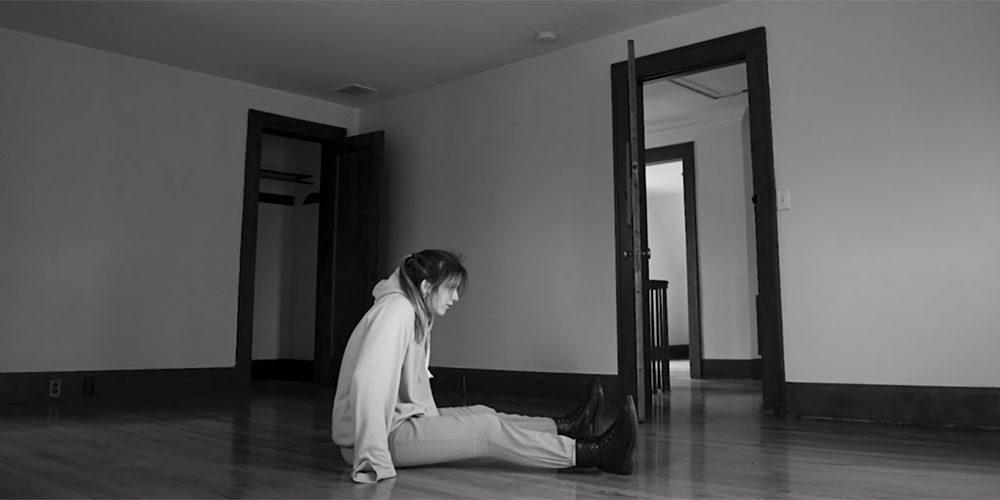 Girl in empty room