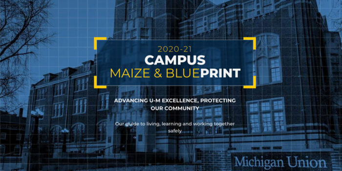 Maize and blueprint graphic