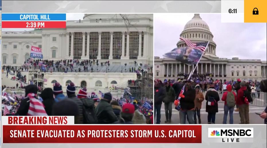 TV screen shot, Jan. 6, 2021