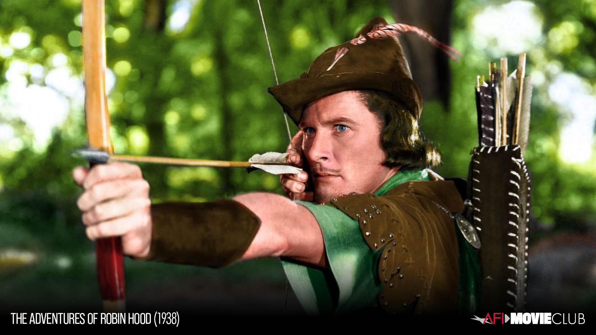 Errol Flynn as Robin Hood
